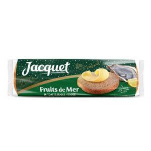 Jacquet Canapés pour fruits de mer, toasts au seigle