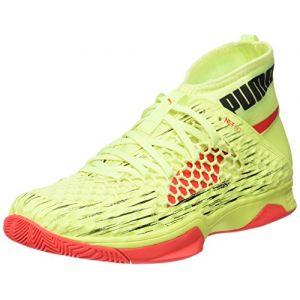 Puma Evospeed Indoor Netfit Euro 1, Chaussures Multisport Mixte Adulte, Jaune (Fizzy Yellow-Red Blast Black), 46.5 EU