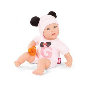 Gotz 2020142 Poupée to Dress Muffin poupée Signature Edition - Poupon de 33 cm avec des Yeux dormeurs Bleus, Bonnet, tétine et sans Cheveux - Poupée au Corps Souple à partir de 18 Mois