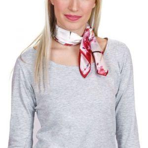 Allée du foulard Carré de soie Piccolo Wisnia Rouge