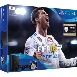 Sony PS4 Slim 1To + 2 manettes + FIFA 18