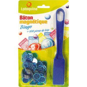Bâton magnétique + 100 pions loto / bingo