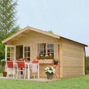 Outdoor Life Products Michigan - Abri de jardin en bois 34 mm 15,2 m2
