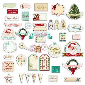 Toga Découpe en papier Dear Santa textes de noël - 40 mots