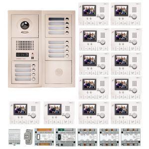 Aiphone GTV12E - Pack vidéo 12 BP avec 12 moniteurs GT1CL préprogrammés (200321)