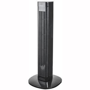 Bestron Aft80zrc Ventilateur colonne 80cm 50w 3 vitesses avec télécommande noir