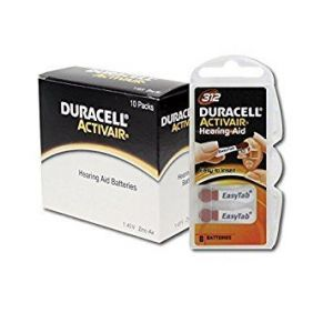 Duracell Piles Auditives Activair 312 - 10 plaquettes