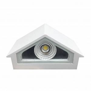 Silamp Applique Murale LED 12W IP44 Design Maison - couleur eclairage : Blanc Neutre 4000K - 5500K