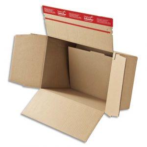 ColomPac Carton fond automatique - Dimensions : 44,5 x 31,5 x 18-30 cm coloris brun