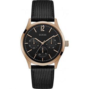 Guess W1041G - Montre pour homme avec bracelet en cuir