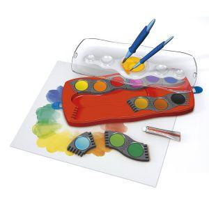 Faber-Castell Boîte de peintures Connector 12 couleurs