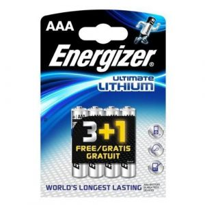 Energizer 4 piles Lithium AAA LR03 Ultimate