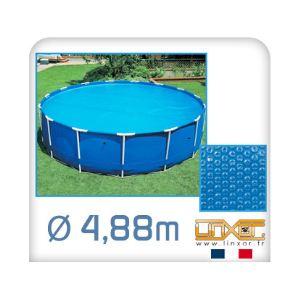 Linxor Bâche à bulles ronde 180 microns pour piscine Ø 4,88 m