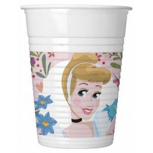 8 Gobelets en plastique Disney Princesses 200 ml