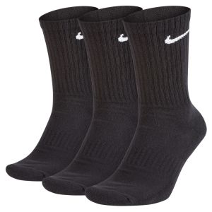 Nike Chaussettes de training Everyday Cushion Crew (3 paires) - Noir - Taille S