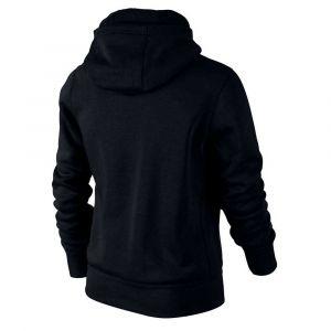 Nike Sweat à Capuche Fleece YA76 - Noir/Blanc Enfant - Noir - Taille Boys XS: 122-128 cm