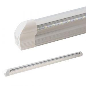 Ledvero Barre lumineuse LED T5LEDVero - 60cm, 90cm, 120cm, 150cm - Couvercle laiteux et transparent - Blanc froid, blanc chaud et blanc neutre - Tube fluorescent, Aluminium Plastique, blanc froid, 60 cm, T5 8watts