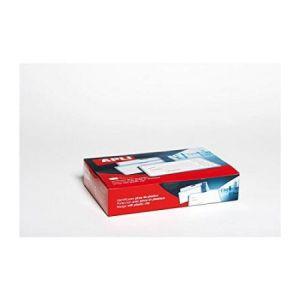 APLI 11740 - Boîte de 25 porte-badges 100 x 72 mm, avec pince plastique