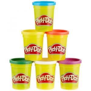Play-Doh Pack de 6 Pots de Pâte à Modeler - Couleurs Primaires