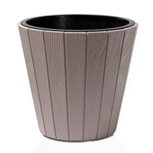 PROSPERPLAST Pot rond Woode Ø 488 mm Marron moka