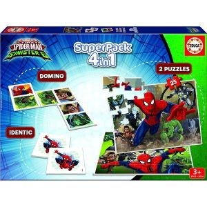Educa Coffret 4 en 1 Spider-Man Vs Sinister 6