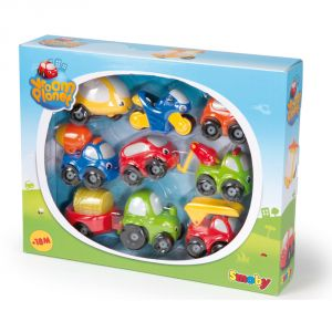 Smoby Coffret de 8 mini-bolides Vroom Planet