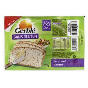Image de Gerblé Pain tranché aux farines de mais riz et quinoa, Le grand natu re sans gluten - Le paquet de 230g
