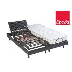 Epeda Ensemble matelas + sommier articulé 2 x 80 x 200 cm - 100% latex 63 kg/m3 - Ferme - COSMO - COSMO 2 x 80 x 200 cm - 100% latex 63 kg/m3 - Ferme - 15 cm - Sommier tapissier - 22 lattes - 2 personnes