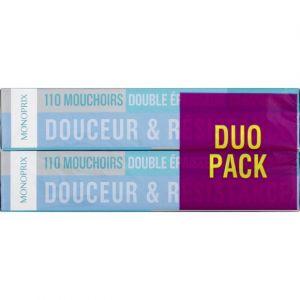 Monoprix Mouchoirs double épaisseur classiques