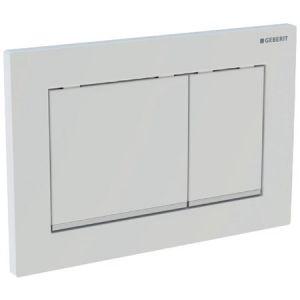 Geberit Omega30 Plaque de commande DF matière synthétique 21.2x14.2cm maniement dessus/en face Chrome mat/brillant/mat 115080kn1