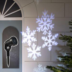 Lights4Fun Lampe Projecteur LED Noël Effet Flocons de Neige Blancs pour Extérieur