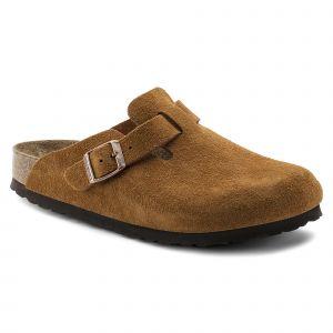 Birkenstock Boston Soft Footbed, Pantoufle Unisexe, Mink, 46