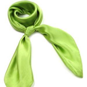 Allée du foulard Carré de soie Premium Uni Pomme