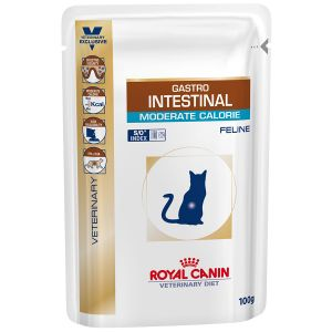 Royal Canin Veterinary Diet Chat Gastro Intestinal Moderate Calorie - 12 sachets de 100 g