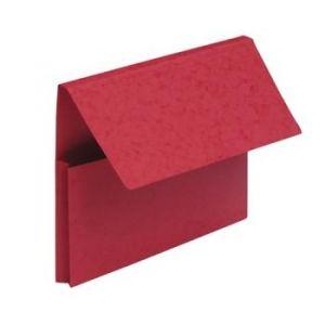 Fast 100725973 - Lot de 25 chemises poches VIP A4, coloris rouge