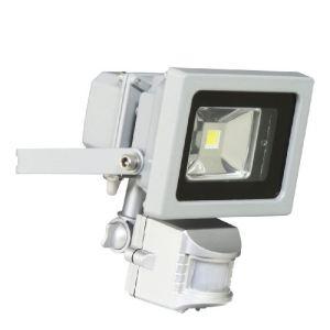 Ranex XQ1162 - Projecteur 1 LED 10 W en aluminium et verre avec détecteur de mouvement