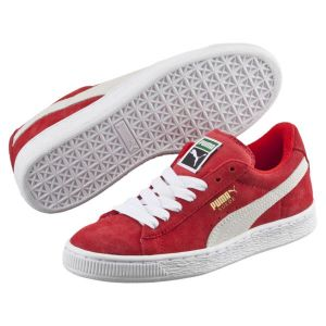 Puma Suede Jr, Sneakers Basses Mixte Enfant, Rouge (High Risk Red-White 03), 38 EU