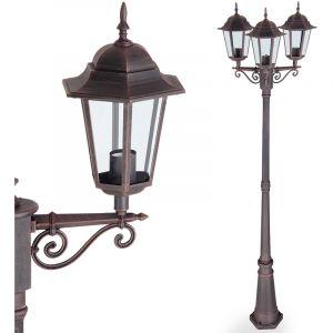 Deuba Lampe lumière extérieure réverbère design chemin allée forme lanterne - bronze