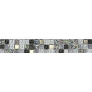 LISTEL Carrelage Lagon 5 x 30 cm Gris noir