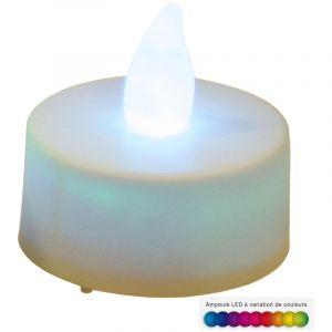 Atmosphera 2 bougies LED à variation de couleurs D 3.8 cm