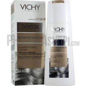 Vichy Dercos - Shampooing crème nutri réparateur cheveux secs et abîmés