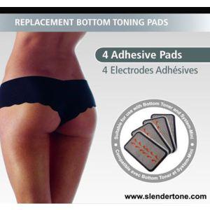 Slendertone 0716-0300 - 4 électrodes de rechange pour short Bottom