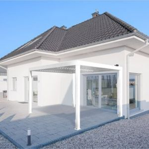 Pergola Orient 12 m² autoportante en aluminium blanc