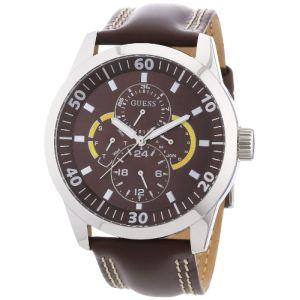Guess W95046G - Montre pour homme avec bracelet en cuir