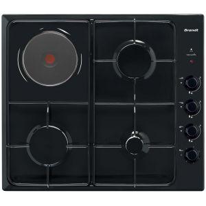 Brandt BPE 6411 - Table de cuisson mixte (électrique et gaz) 4 foyers