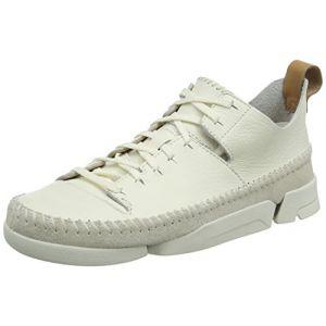 Image de Clarks Originals Trigenic Flex, Sneakers Basses Femme, Blanc (White -), 41.5 EU