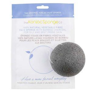 The Konjac Sponge Co Éponge en fibres végétales 100% naturelle avec charbon de bambou