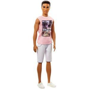 Mattel Poupée Barbie - Ken Fashionistas - Brun T-shirt California Bermuda Blanc