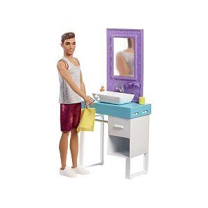 Mattel Poupée Barbie - Ken et sa salle de bain