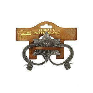 Schrödel Menottes et étoile de Sheriff en métal